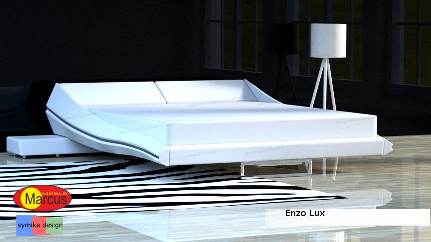 Zestaw łóżko Enzo Lux Materac Kieszeniowy Siedmiostrefowy
